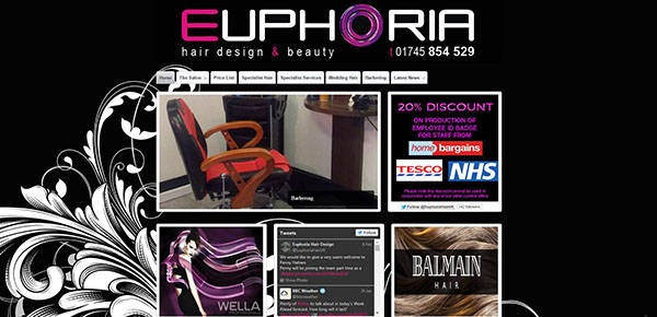 Euphoria Hair Design in Prestatyn